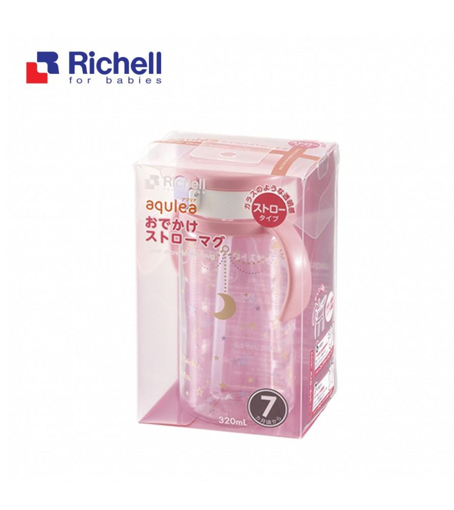 CỐC ỐNG HÚT TAY CẦM HỒNG RICHELL 320ML RC41032