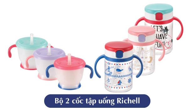 BỘ 2 CỐC TẬP UỐNG RICHELL XANH RC41041