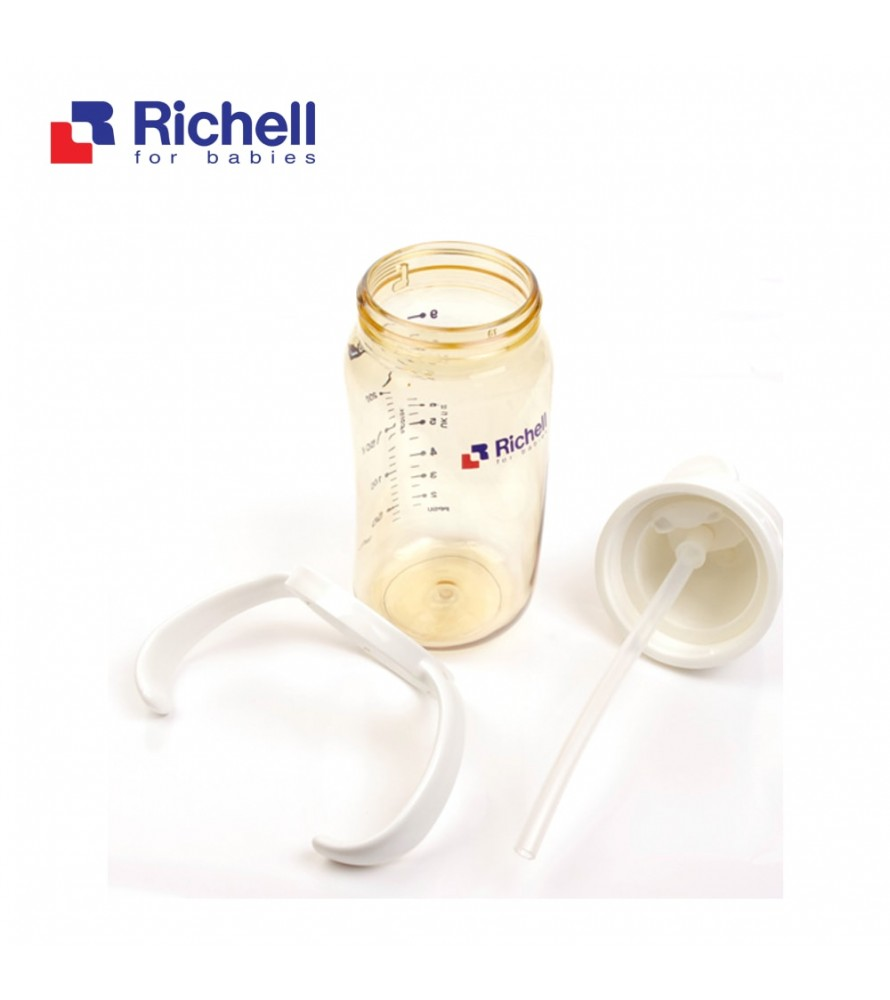 BÌNH ỐNG HÚT PPSU RICHELL 320ML TRẮNG RC98502