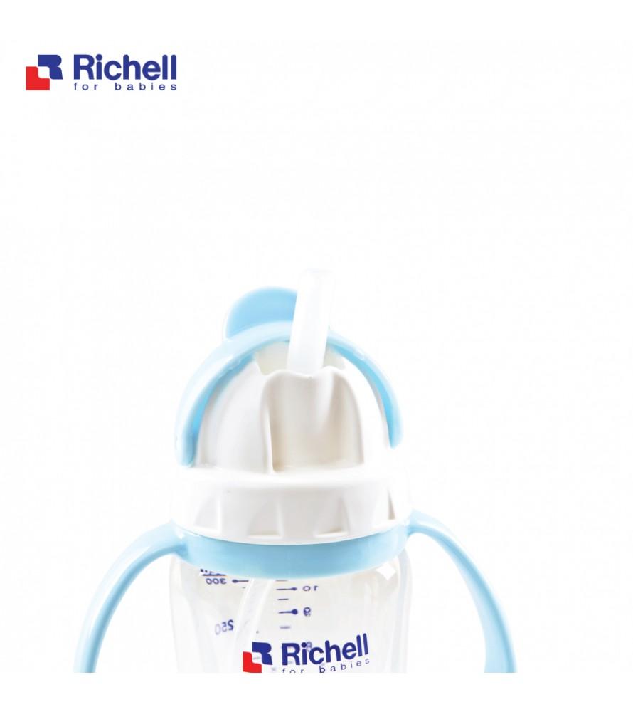 BÌNH ỐNG HÚT PPSU RICHELL 260ML XANH RC99128
