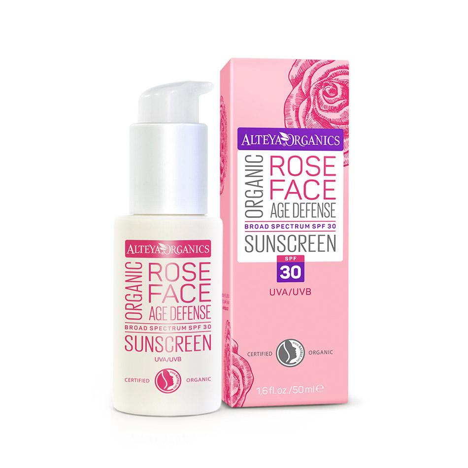 Kem chống nắng hoa hồng hữu cơ ATE Sunscreen Rose Face SPF (50ml)