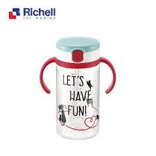 CỐC ỐNG HÚT TAY CẦM ĐỎ RICHELL 320ML RC41033