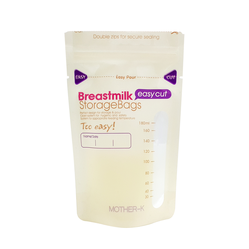 Túi trữ sữa cảm biến nhiệt miệng cắt Mother-K Hàn Quốc (30c) Breast Milk Storage Bag 30ea (Easy cut)