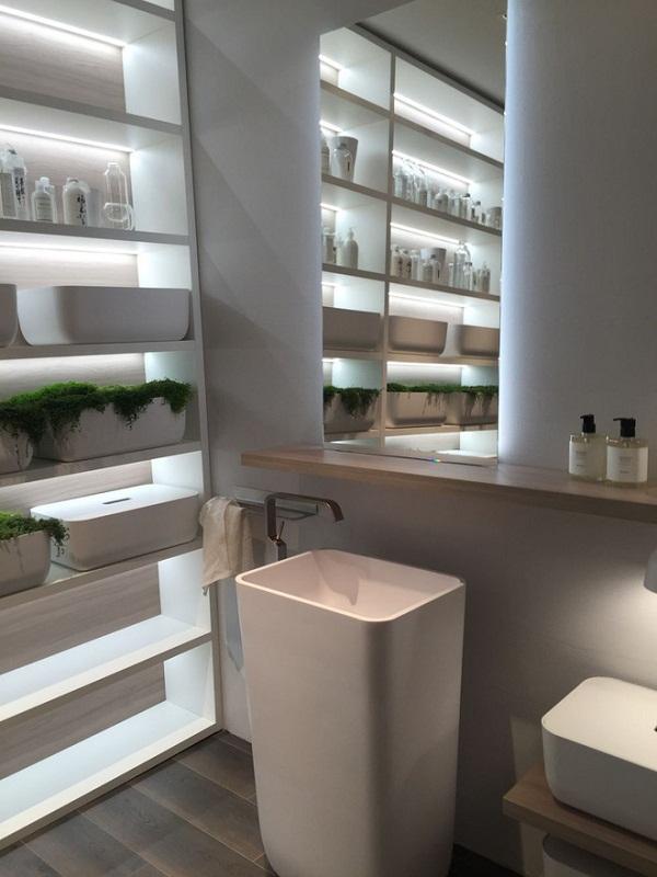 Cách chọn lựa kệ trang trí phòng tắm hợp lí và đẹp mắt