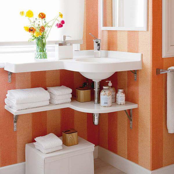 Bạn có thể tham khảo một số cách thiết kế như sử dụng kệ treo tường