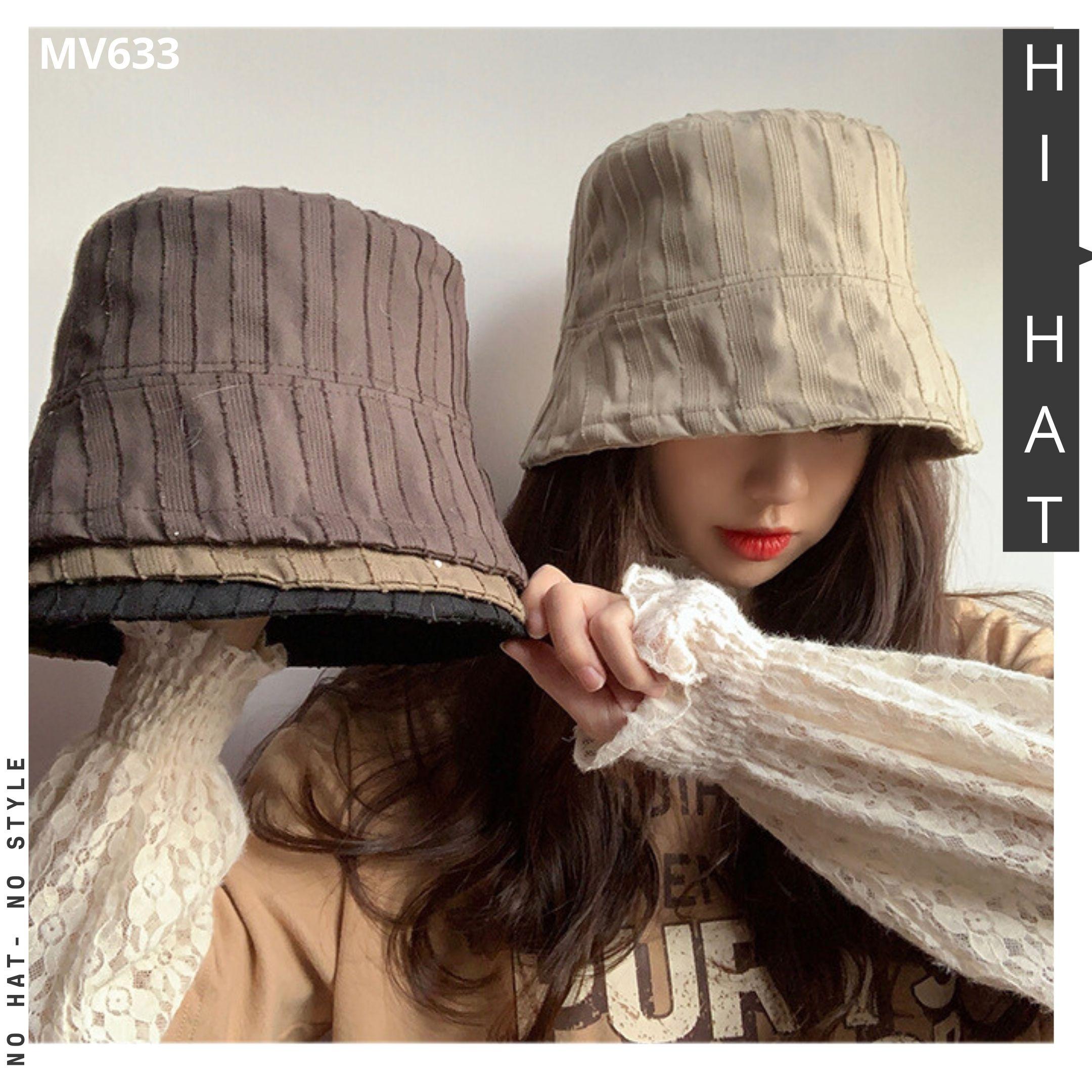 Mũ vành suôn form rộng style ngầu, phối sọc cho cả nam và nữ MV633