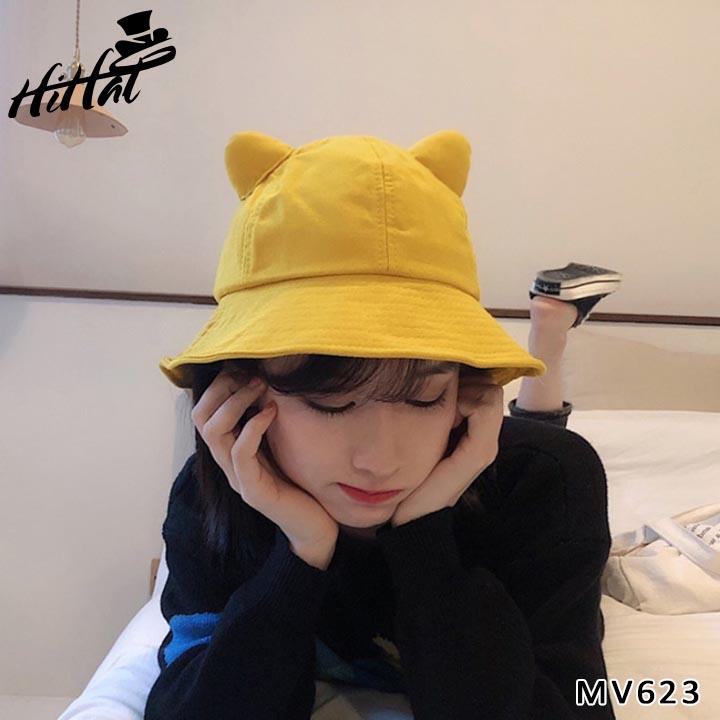 Nón bucket tai mèo siêu dễ thương MV623