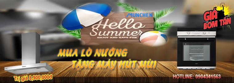Lò nướng Munchen giảm giá 15% áp dụng tại Hà Nội