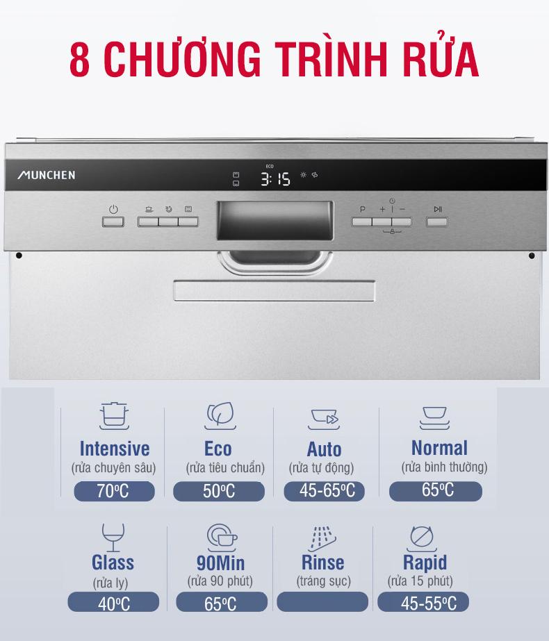 8 Chương trình rửa tối ưu cao cấp