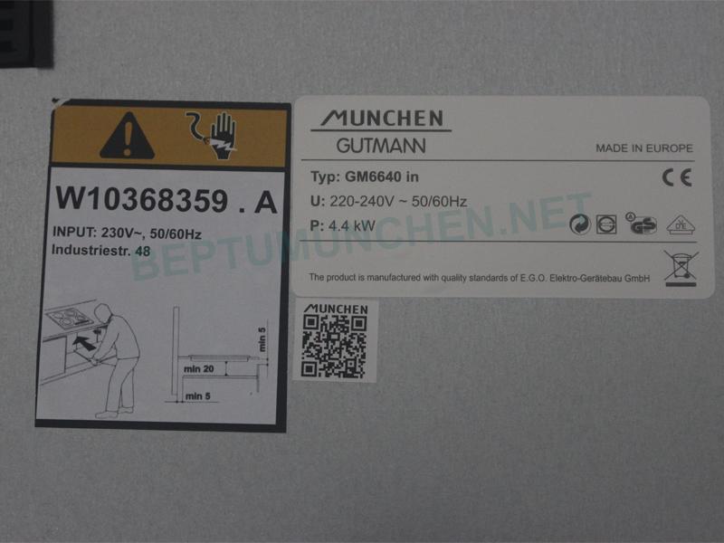 Bếp từ Munchen GM6640 IN