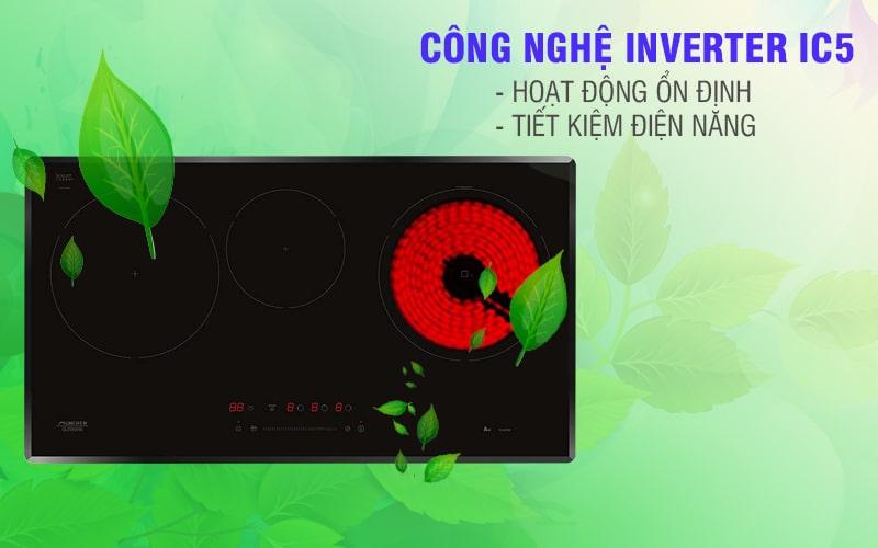 Bếp điện từ Munchen GM 5860 Công nghệ Inverter tiết kiệm IC5