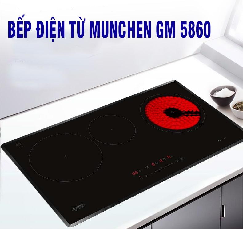 Bếp từ Munchen GM 5860 thiết kế đẹp