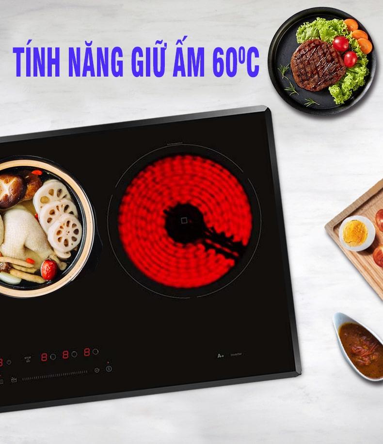 Bếp từ Munchen GM 5860 tính năng hâm nóng