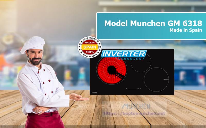 bếp điện từ Munchen GM 6318Xkiểu dáng sang trọng