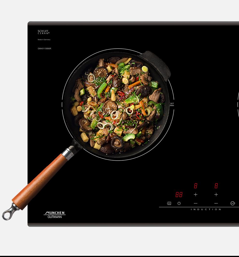 Hình ảnh mô tả về tiết kiệm bếp từ Munchen GM 2285