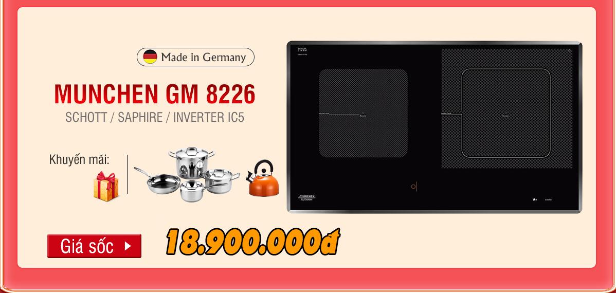 Bếp từ Munchen GM 8226 khuyến mãi
