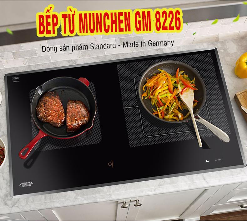 Bếp từ Munchen GM 8226 thiết kế bắt mắt