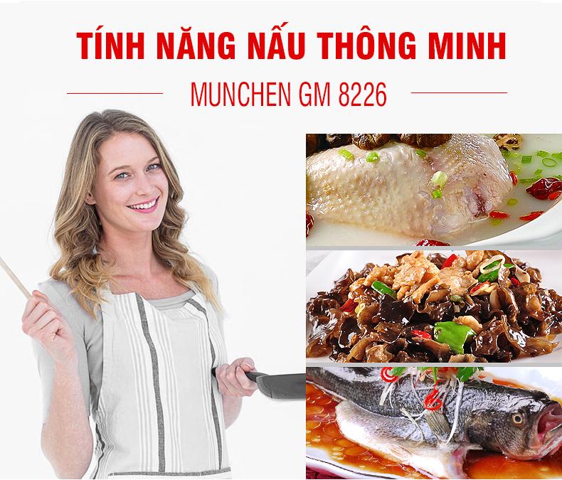 Bếp từ Munchen GM 8226 tính năng đun nấu cao cấp