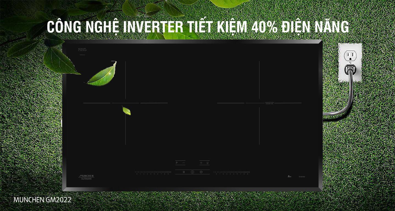 Bếp từ Munchen GM2022 inverter tiết kiệm tuyệt đối
