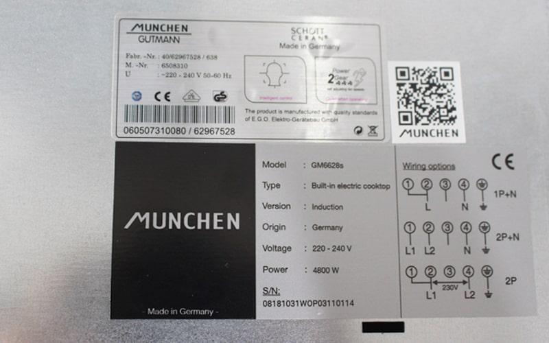 Bếp từ Munchen GM6628S tem