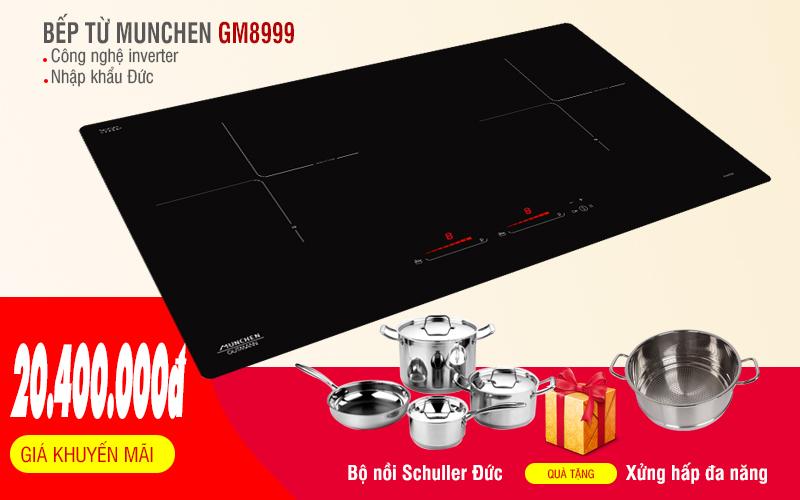 Bếp từ Munchen GM8999 khuyến mãi lớn