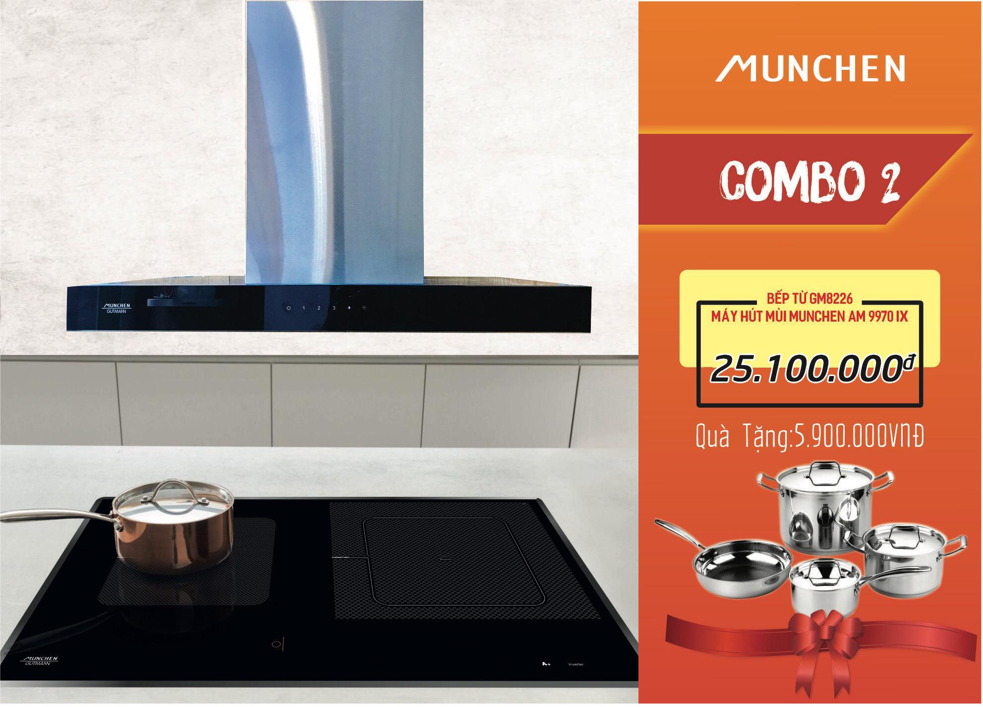 Bếp từ Munchen GM 8226 và tổngquà tặng trị giá 15 triệu đồng