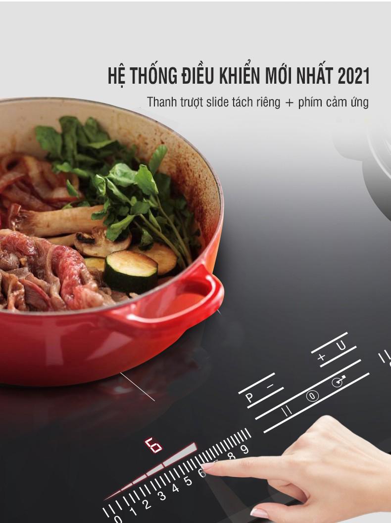 Hệ thống điều khiển mới của bếp từ Munchen GM 2022