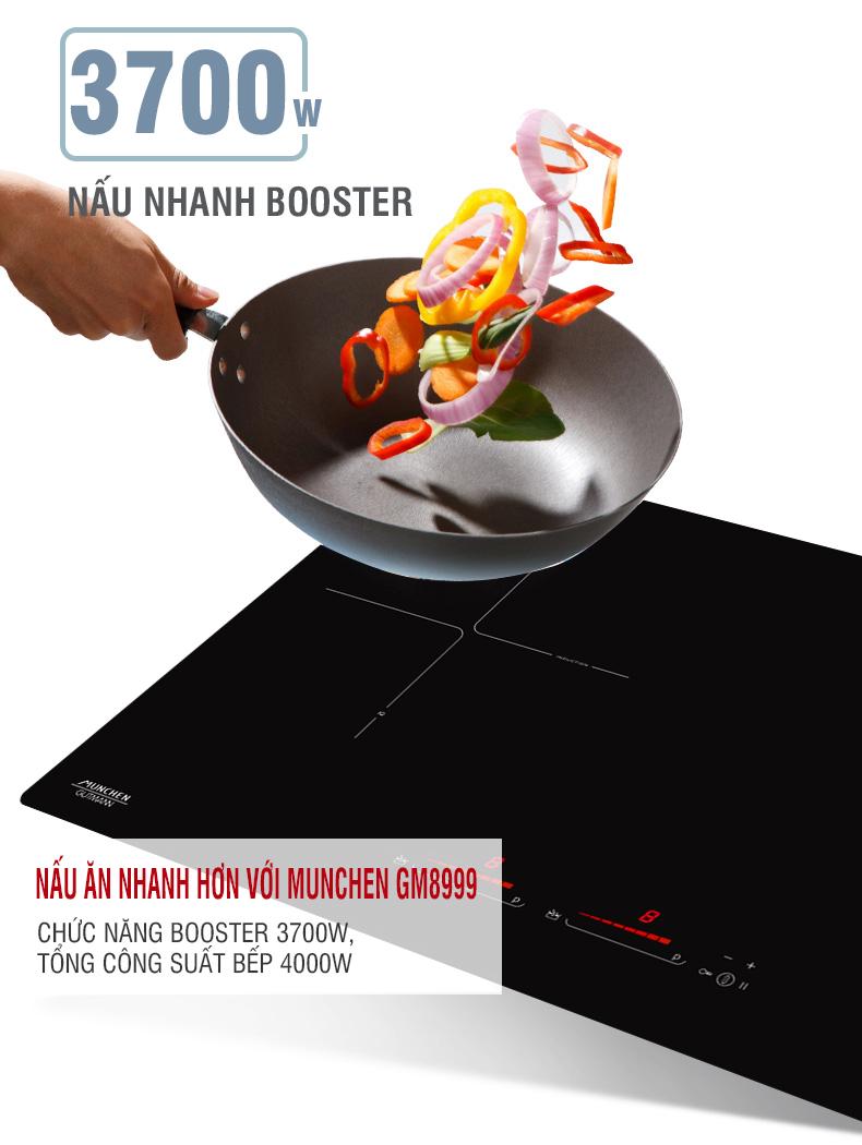 Hiệu suất đun nấu của bếp từ Munchen GM8999