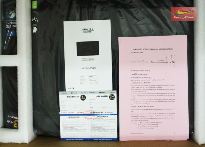 Hình ảnh bếp từ Munchen GM 8999 và giấy bảo hành