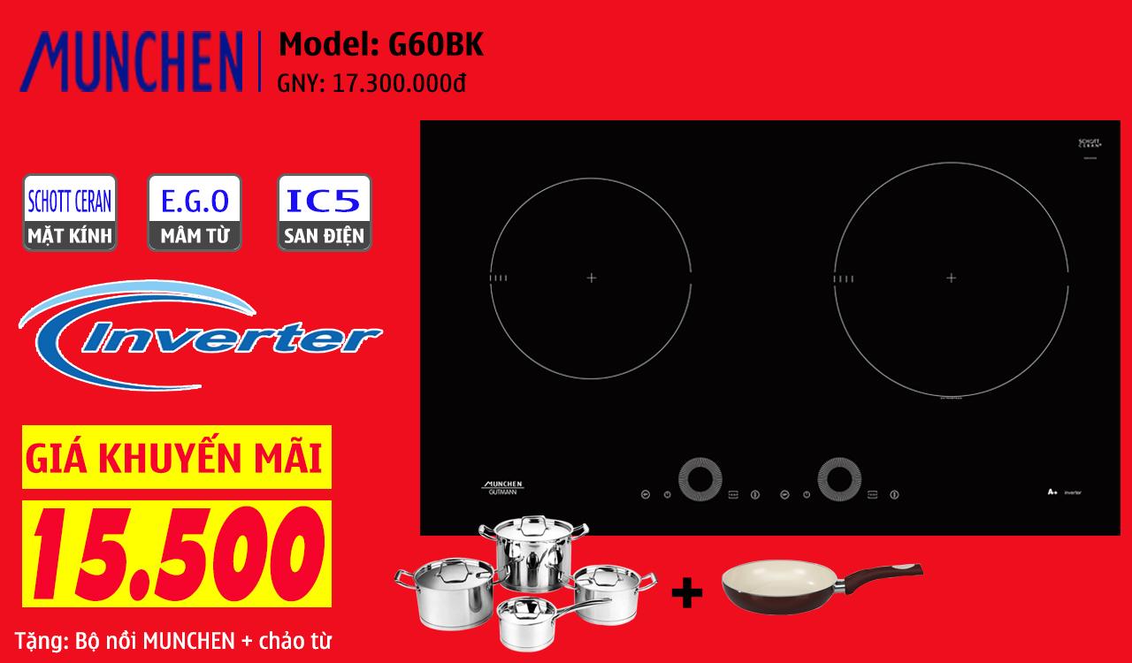 khuyến mãi bếp từ munchen g60bk
