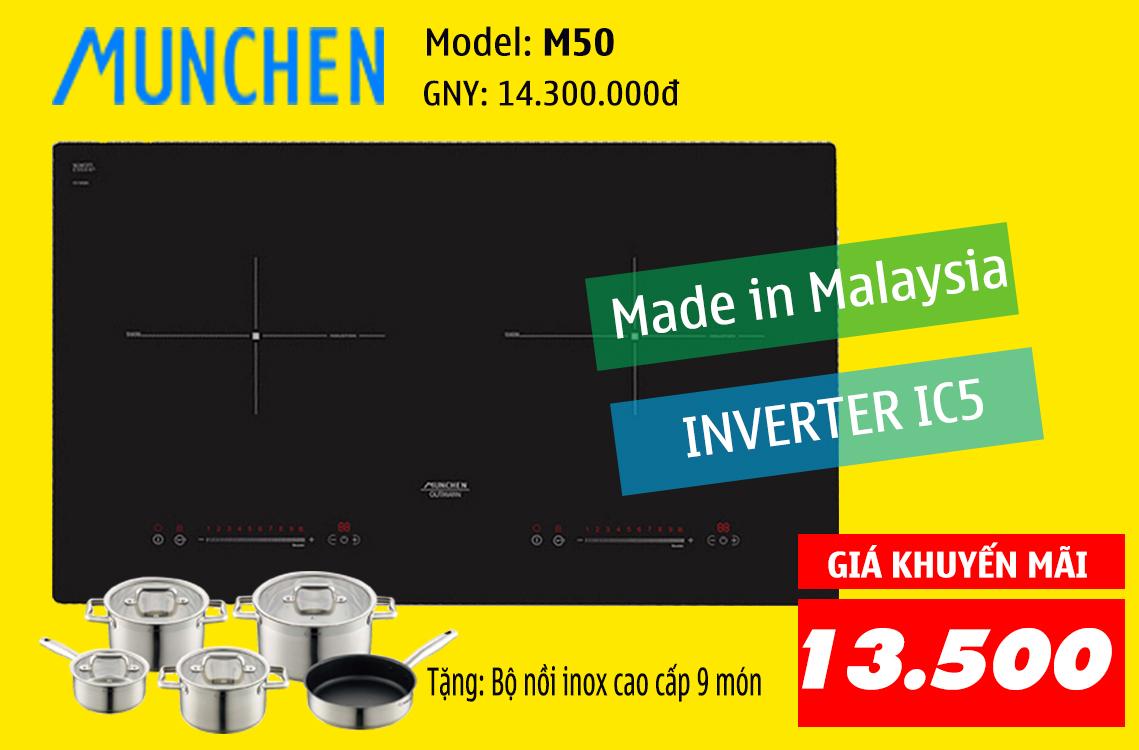khuyến mãi bếp từ munchen m50 2-9