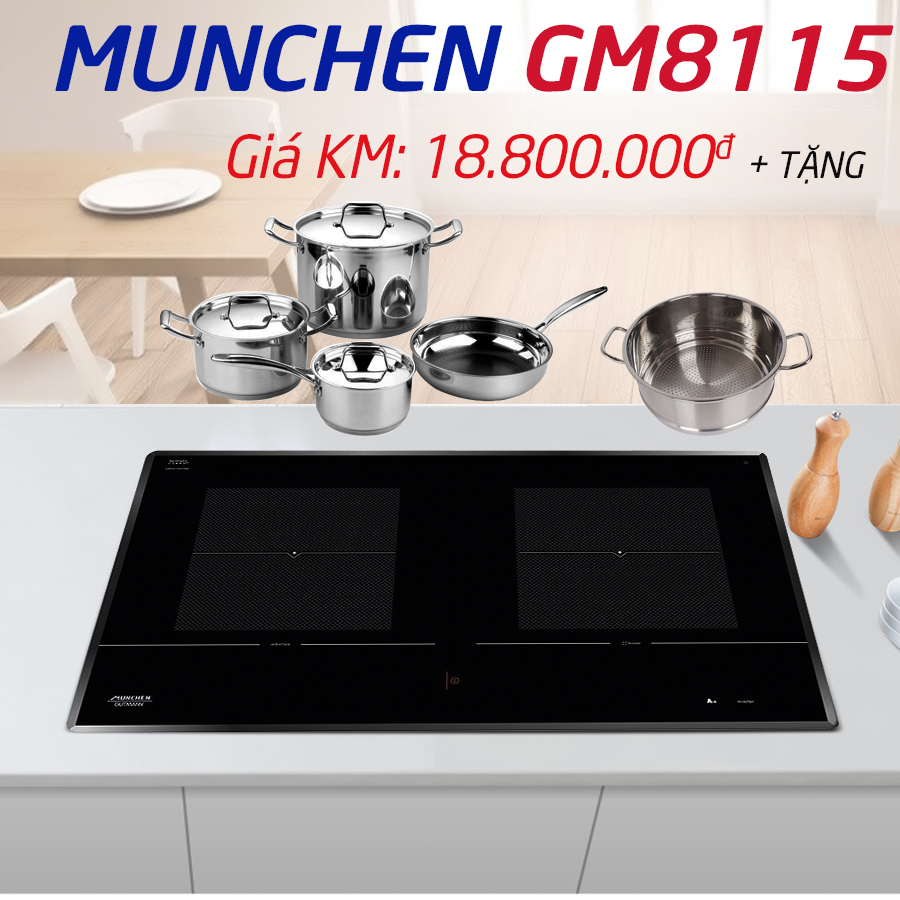 Khuyến mãi bếp từ Munchen gm 8115