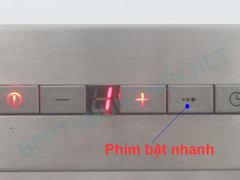 chức năng bật nhanh ở máy hút mùi munchen AMC 9855