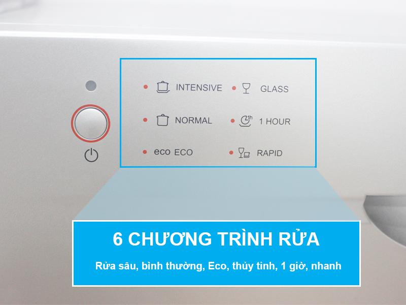 6 chương trình của máy rửa bát munchen c6