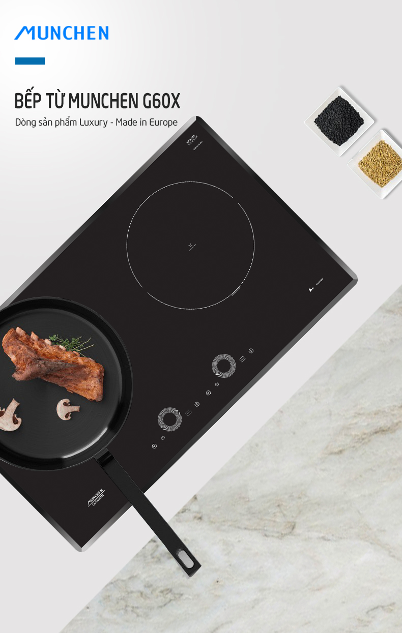 Mua gì hời nhất: Bếp từ Munchen G60X thiết kế và tính năng xịn sò