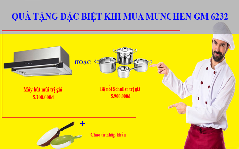 Thông tin khuyến mãi khi mua bếp từ Munchen GM 6232
