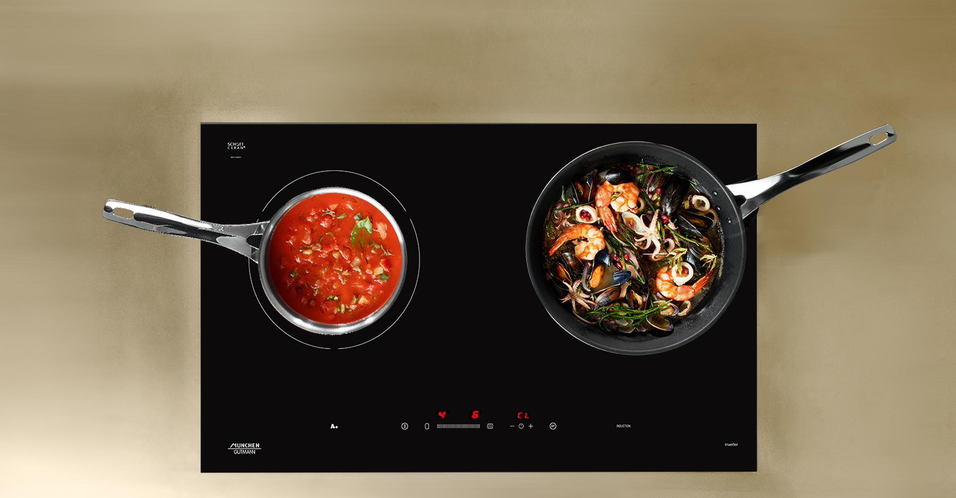 tính năng đun nấu bếp từ munchen m568i