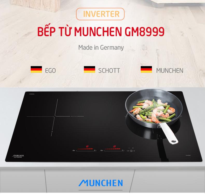 Thiết kế hoàn hảo của bếp từ Munchen GM 8999