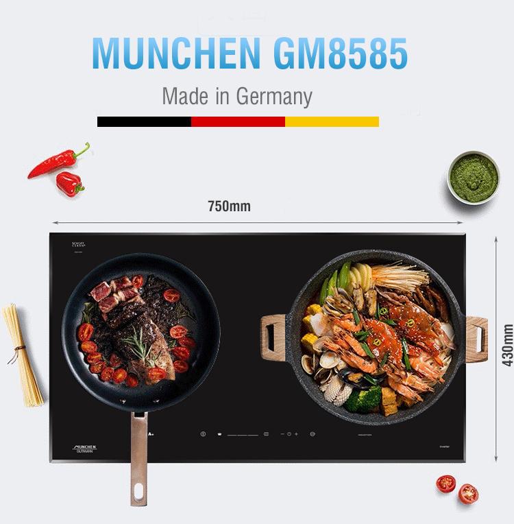 Thiết kế thân quen của bếp từ Munchen GM 8585