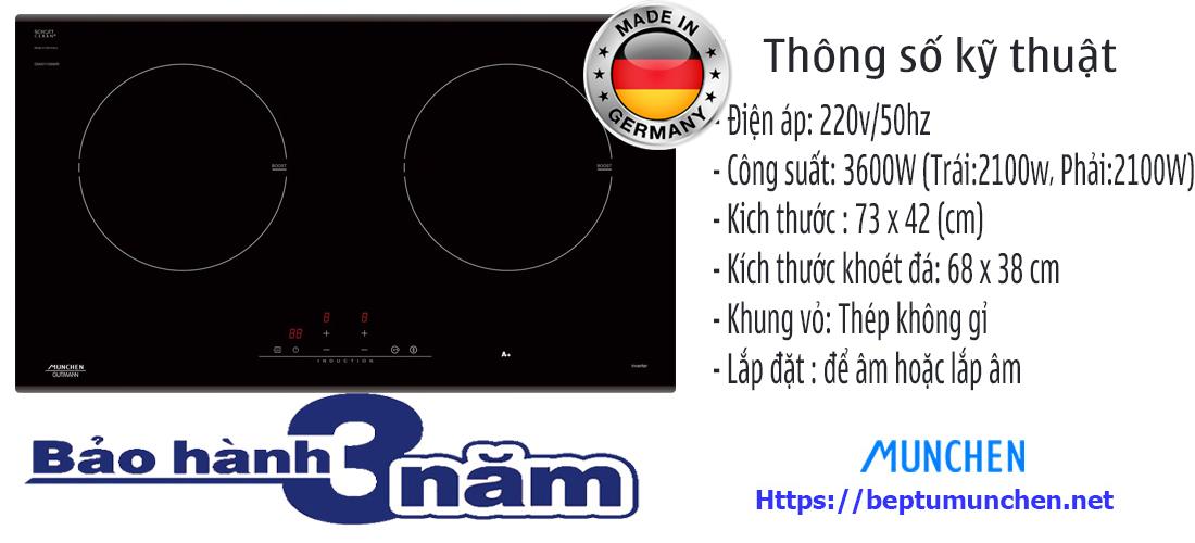 Thông số bếp từ Munchen GM 2285