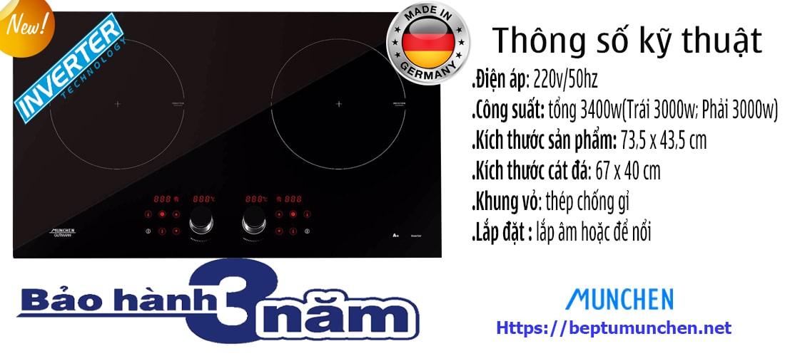 Thông số bếp từ Munchen GM 292