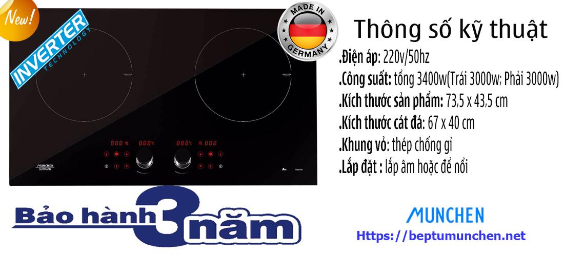 Thông số bếp từ Munchen GM292