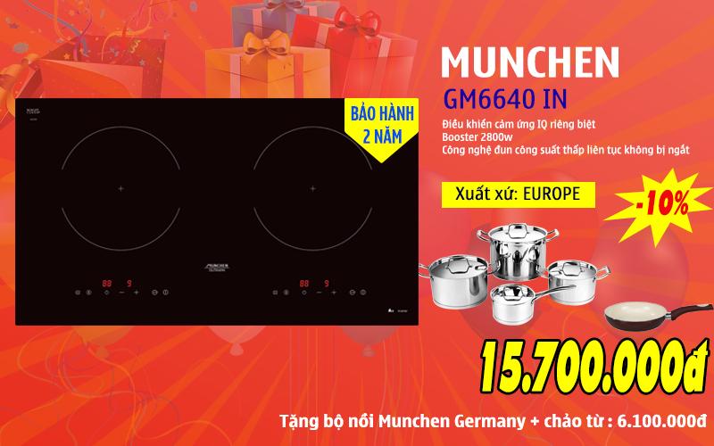 Khuyến mãi giá sốc bếp từ Munchen GM6640 IN