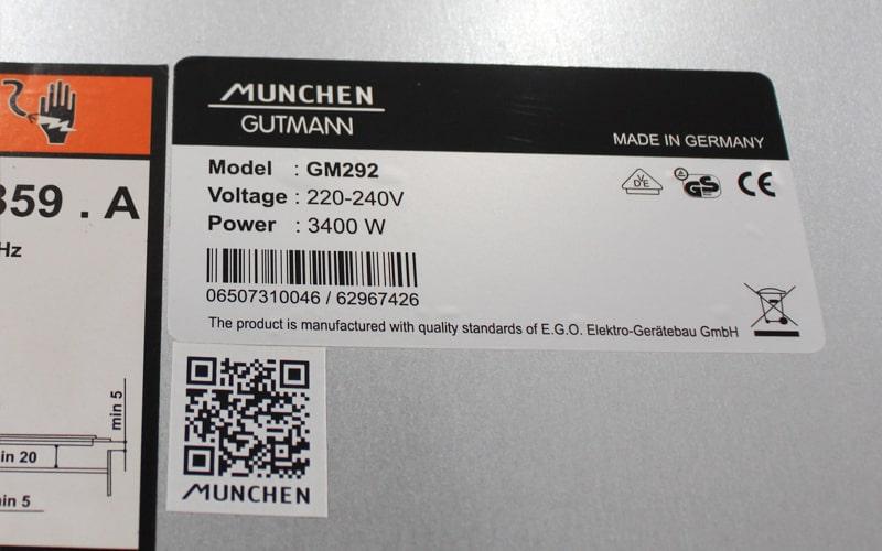 Xuất xứ của bếp từ Munchen GM 292