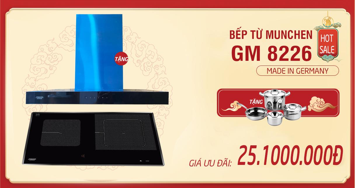 Combo bếp Munchen GM 8226 + AM 9970IX