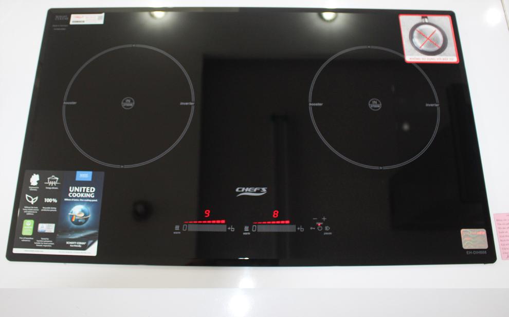Không chỉ tiết kiệm điện, bếp Chefs DIH888 còn được nâng cấp luôn booster