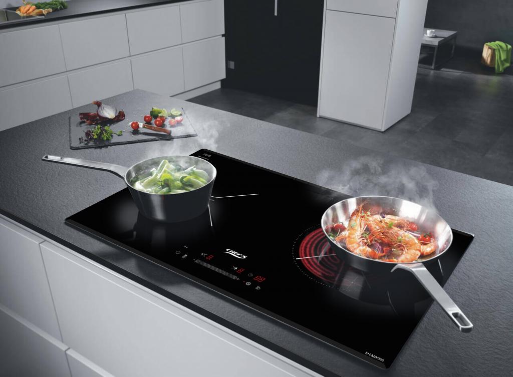 thiết kế sang trọng của bếp điện từ chefs eh mix366 new