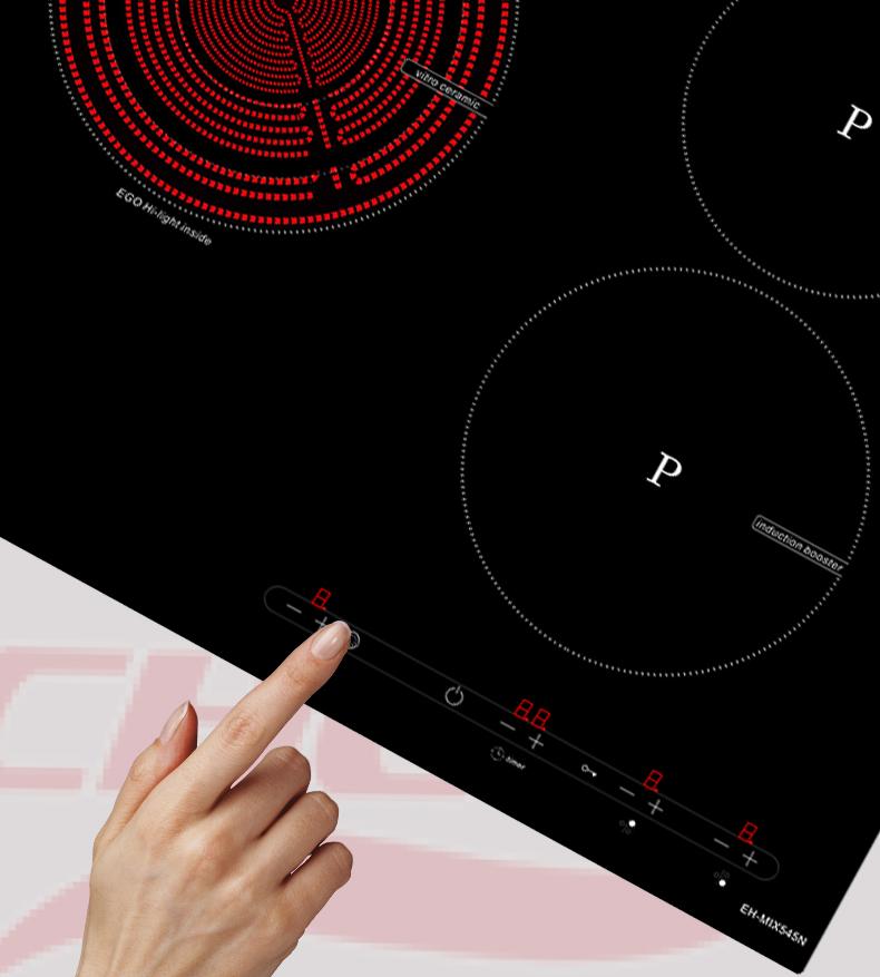 Bàn phím điều khiển Bếp điện từ Chefs EH MIX545N mới