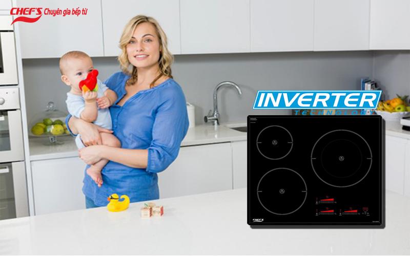 Công nghệ inverter bếp từ Chefs EH IH555