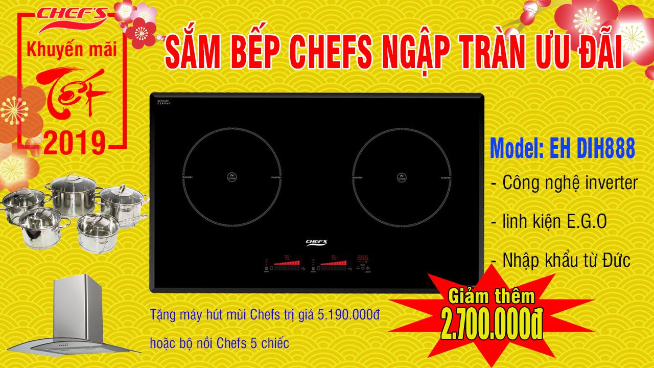 bếp từ chefs eh dih888 - nhập khẩu đức